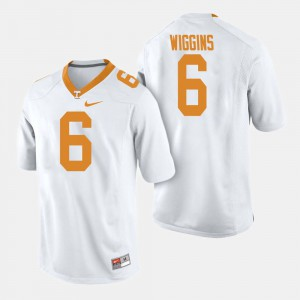 UT VOL #6 Mens Shaq Wiggins Jersey White NCAA College Football 167542-420