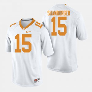 University Of Tennessee #15 For Men's Shawn Shamburger Jersey White Player College Football 885831-889
