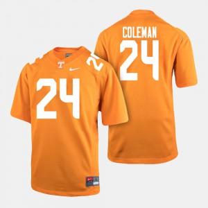 Tennessee Volunteers #24 Men Trey Coleman Jersey Orange College Football High School 399153-392