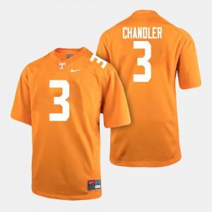Tennessee Volunteers #3 For Men Ty Chandler Jersey Orange College Football High School 746332-204