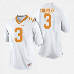 Vols #3 Men Ty Chandler Jersey White Embroidery College Football 275091-476