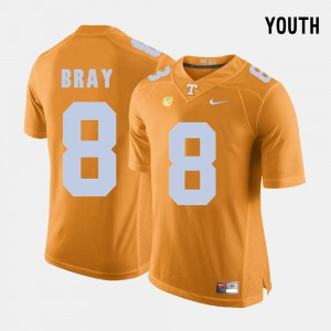 Vols #8 Kids Tyler Bray Jersey Orange College Football NCAA 239928-862