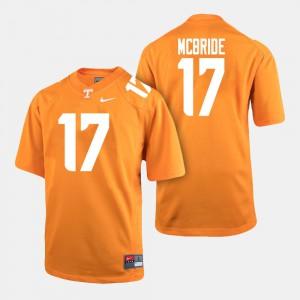 UT VOL #17 For Men Will McBride Jersey Orange Player College Football 512830-725