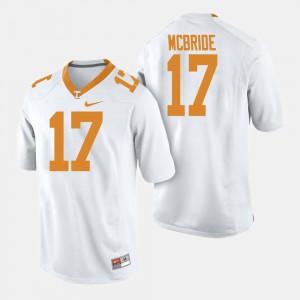 UT #17 Men Will McBride Jersey White College Football Player 682915-530