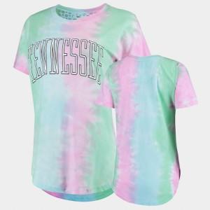 UT Volunteer Women T-Shirt Rainbow University Tie Dye Bay 446811-155