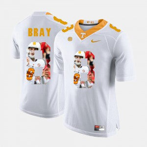 VOL #8 Mens Tyler Bray Jersey White Official Pictorial Fashion 991212-605