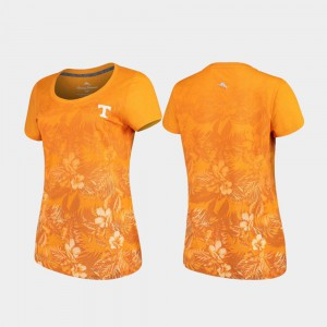 Tennessee Vols Ladies T-Shirt Tennessee Orange Tommy Bahama Floral Victory Stitch 983198-294