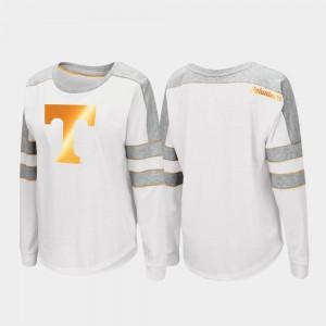 UT For Women T-Shirt White Official Trey Dolman Long Sleeve 476072-808