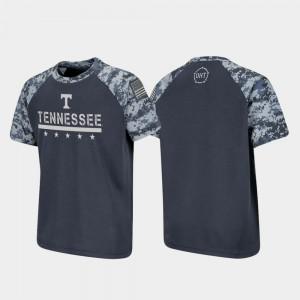 UT VOLS Youth(Kids) T-Shirt Charcoal High School OHT Military Appreciation Raglan Digital Camo 264566-425